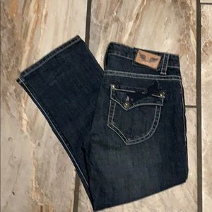 Dark Blue Capri Jeans Size 7